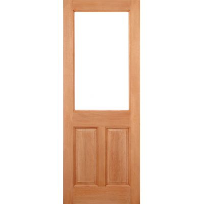 Hardwood 2XG 2 Panel (Dowel) External Door Wooden Timber - E...
