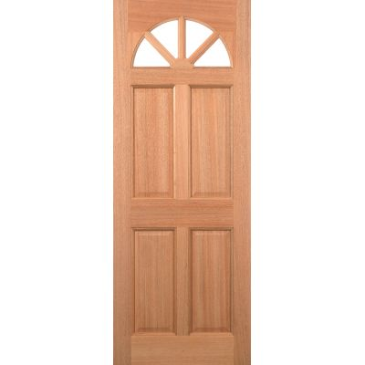 Hardwood Carolina 4 Panel Unglazed External Door Wooden Timb...