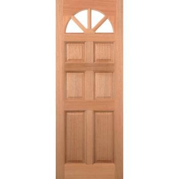 Hardwood Carolina 6 Panel External Door Wooden Timber - Essentials Range