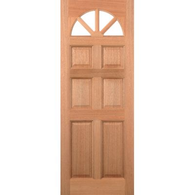Hardwood Carolina 6 Panel External Door Wooden Timber - Esse...