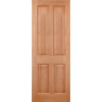 Hardwood Victorian Colonial 4P External Door Wooden Timber - Essentials Range