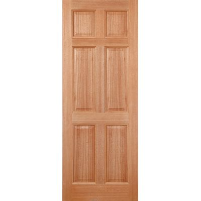 Hardwood Colonial 6P (Dowel) External Door Wooden Timber - E...
