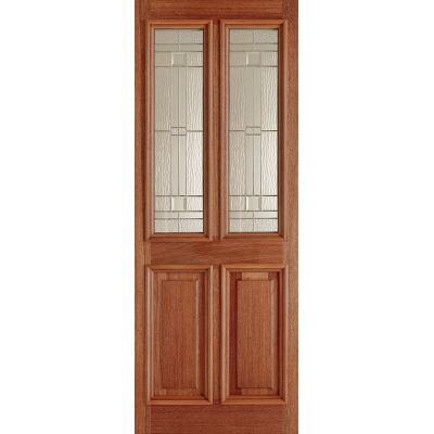 Hardwood Derby Elegant External Door Wooden Timber - Door Si...