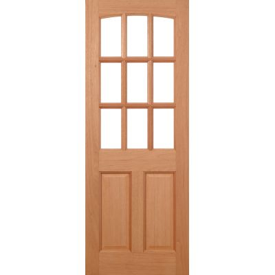 Hardwood Georgia External Door Wooden Timber - Essentials Ra...