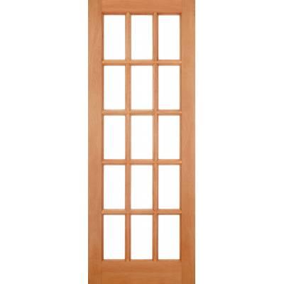 Hardwood SA Clear Glazed Door Wooden Timber - Essentials Range - Door Size, HxW:
