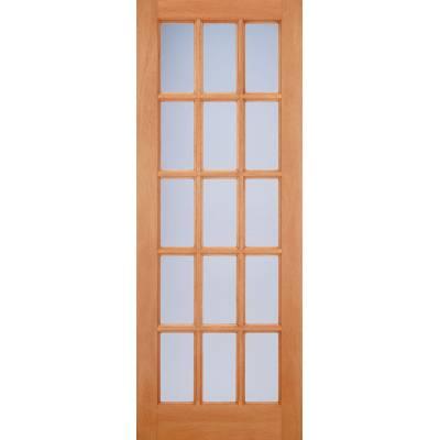 Hardwood SA Frosted Glazed Door Wooden Timber - Essentials Range - Door Size, HxW:
