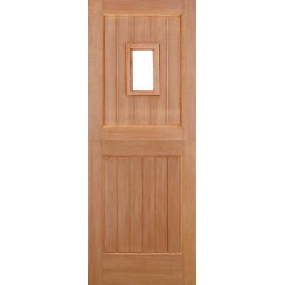 Hardwood Stable 1L Straight Top External Door Wooden Timber ...