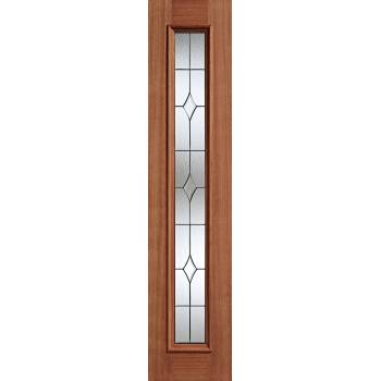 "Hardwood Universal Sidelight Zinc External Door Wooden Timber 81"" X 18"""