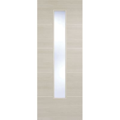 Pre-finished Santandor Ivory Glazed Internal Door Laminate - Door Size, HxW: