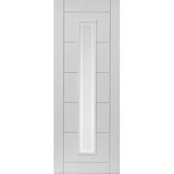 White Contemporary Barbican Fire Door