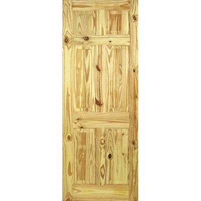 6 Panel Knotty Pine Internal Door Wooden Timber - Door Size,...
