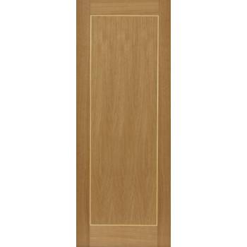 Pre Finished Contemporary Oak Diana Fire Door