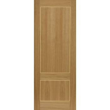 Pre Finished Contemporary Oak Lucina Fire Door