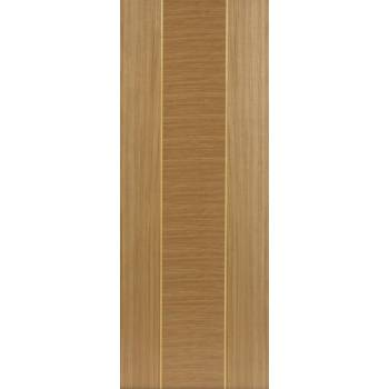Pre Finished Contemporary Oak Venus Fire Door