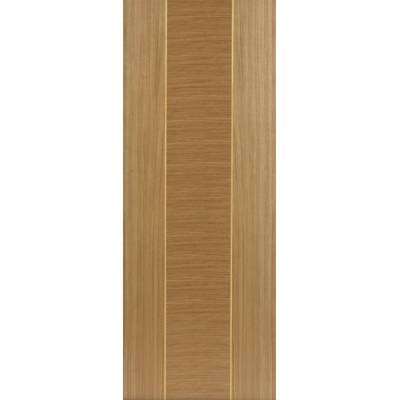 Pre Finished Contemporary Oak Venus Fire Door - Door Size, HxW: