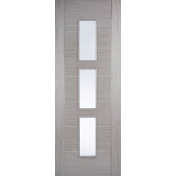 Pre-finished Hampshire Light Grey Glazed Internal Door Wooden Timber