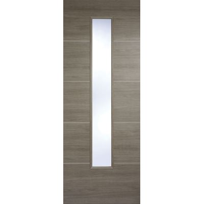 Pre-finished Santandor Light Grey Glazed Internal Door Laminate - Door Size, HxW: