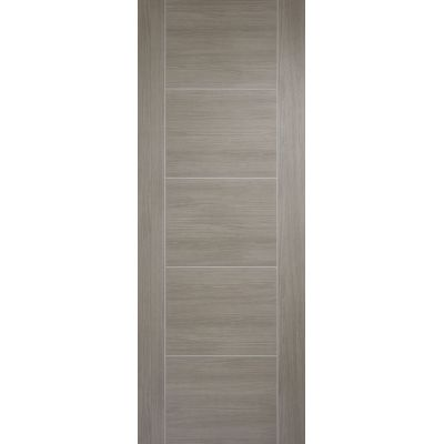 Pre-finished Vancouver Light Grey Internal Door Laminate - Door Size, HxW: