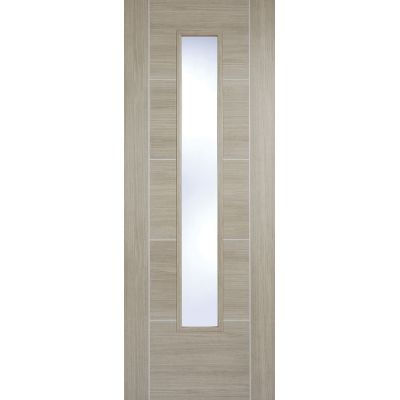 Pre-finished Vancouver Light Grey Glazed Internal Door Laminate - Door Size, HxW: