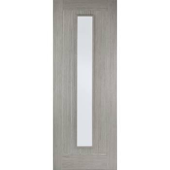 Pre-finished Somerset Light Grey Glazed Internal Door Wooden Timber