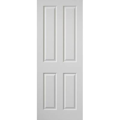 White Classic Canterbury Grained Fire Door - Door Size, HxW: