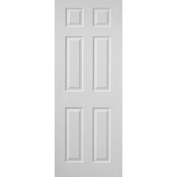 White Classic Colonist Grained Fire Door