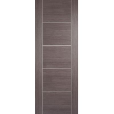 Pre-finished Vancouver Medium Grey Internal Door Laminate - ...