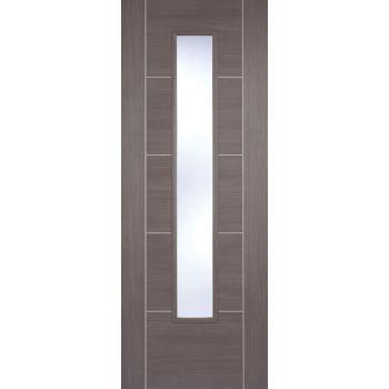 Pre-finished Vancouver Medium Grey Glazed Internal Door Laminate