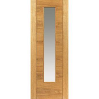 Pre Finished Contemporary Oak Mistral Glazed Internal Door