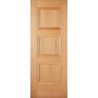 Pre-finished Oak Amsterdam Internal Door Wooden Timber - Door Size, HxW: