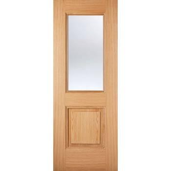 Pre-finished Oak Arnhem Glazed Internal Door Wooden Timber