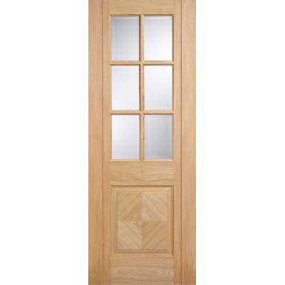 Pre-finished Oak Barcelona Glazed Internal Door Wooden Timbe...