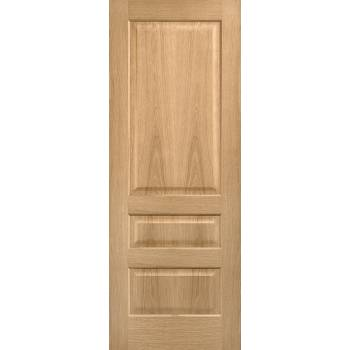 Pre-finished Oak 3 Panel Contemporary Internal Door Wooden Timber