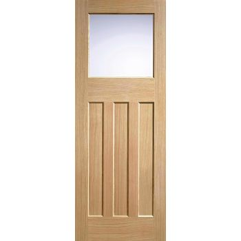 Oak DX 30's Style Glazed Internal Door Wooden Timber