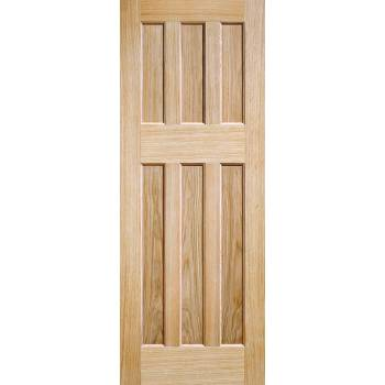 Oak DX 60's Style Internal Door Wooden Timber