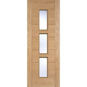 Pre-finished Oak Hampshire Glazed Internal Door Wooden Timber