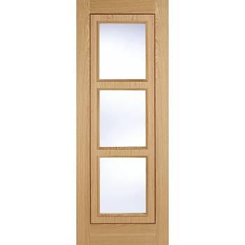 Pre-finished Oak Inlay Glazed Internal Door Wooden Timber