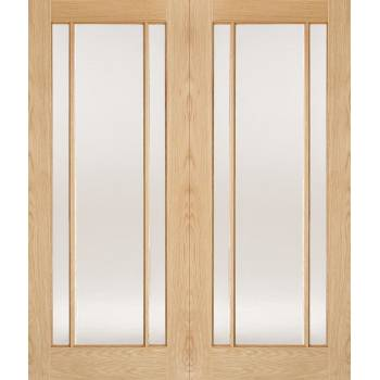 Oak Lincoln Glazed Internal French Door Pair Wooden Timber