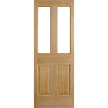 Oak Malton 2P/2L External Door Wooden Timber