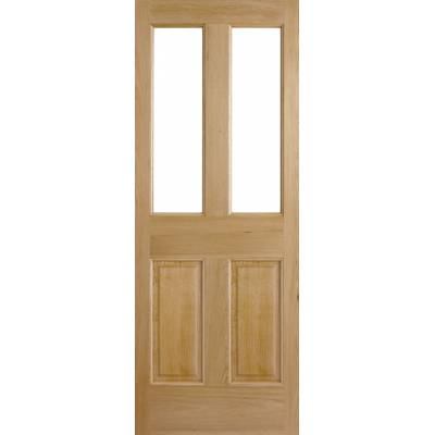 Oak Malton 2P/2L External Door Wooden Timber - Door Size, Hx...