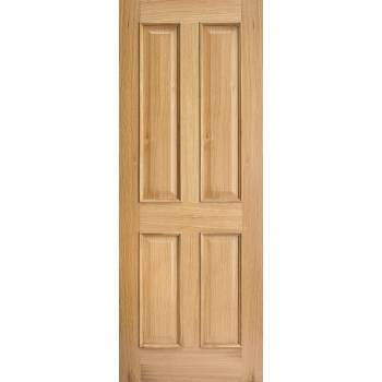 Oak Regency 4 Panel RM2S Internal Fire Door Wooden Timber