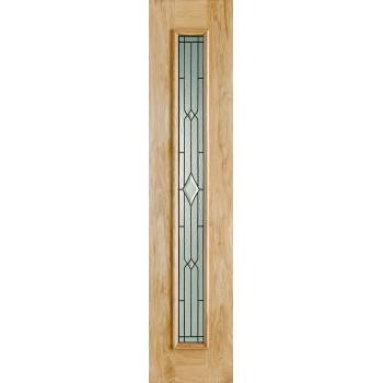 "Oak Universal Sidelight Leaded External Door Wooden Timber 81"" X 18"""