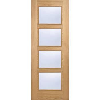 Pre-finished Oak Vancouver Clear Glazed Internal Door Wooden Timber