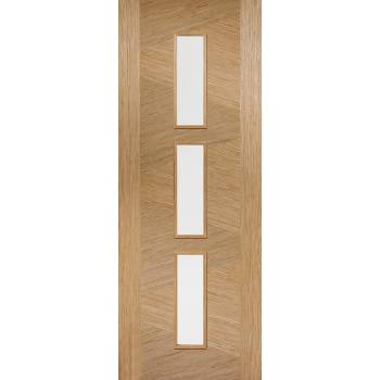 Pre-finished Oak Zeus Glazed Internal Door Wooden Timber