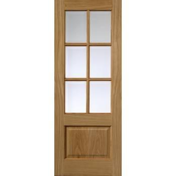 Pre Finished Classic Oak Dove Glazed Internal Door