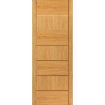 Pre Finished Contemporary Oak Sirocco Fire Door