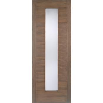 Pre-finished Walnut Alcaraz Glazed Internal Door Wooden Timber