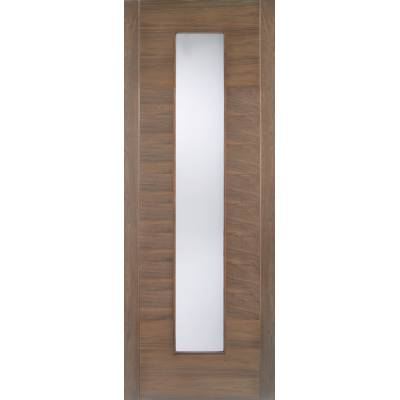 Pre-finished Walnut Alcaraz Glazed Internal Door Wooden Timber - Door Size, HxW: