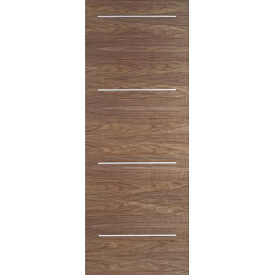Pre-finished Walnut Murcia Internal Door Wooden Timber - Doo...