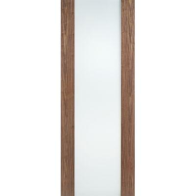 Pre-finished Walnut Toronto Glazed Internal Door Wooden Timb...